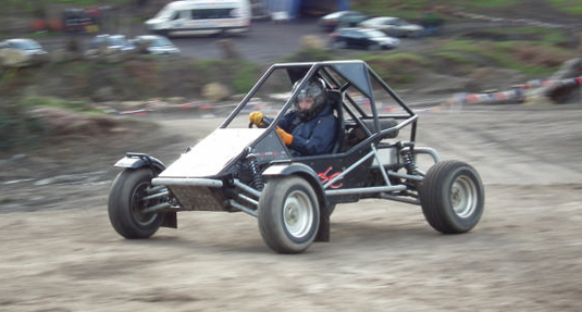 A Demon Wheelers rage buggy completing a lap