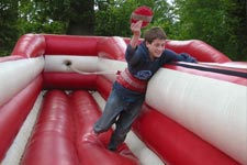 Bungee run scout camp activities