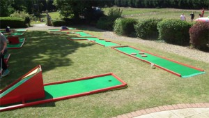 Crazy Golf at  an Event organised by Demon Wheelers