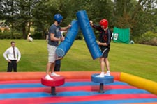 Gladiator joust scout camp activity
