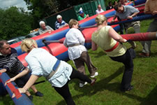 Human Table Football is great for scout camps